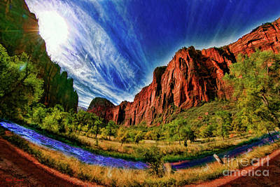 Photograph - A Zion Road Side View by Blake Richards