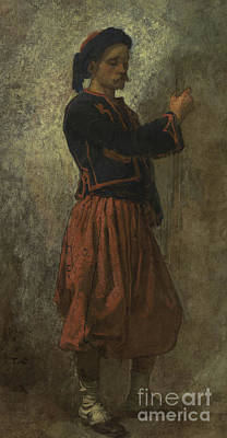 Colonial Man Painting - A Zouave by Thomas Couture