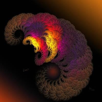 Balrog Digital Art - a040 Balroglike Wormified Tick by Drasko Regul