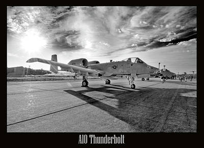 A10 Thunderbolt Print by Greg Fortier