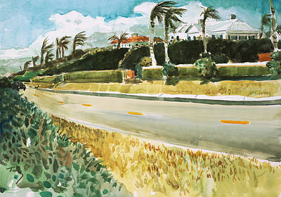 Painting - A1a Palm Beach by Thomas Tribby