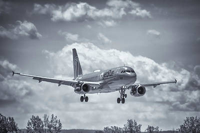 Photograph - A320 On Approach by Guy Whiteley