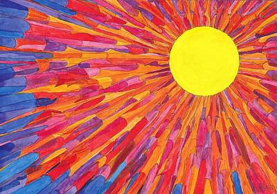 Painting - Sunburst by Charles Cater