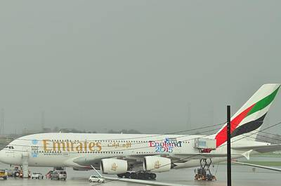 Photograph - A380 In The Rain  by Puzzles Shum