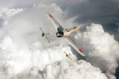 Photograph - A6m Zero Fighters by Gary Eason
