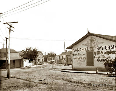 Photograph - A. A. Manuel General Merchandise, Monterey 1901 by California Views Mr Pat Hathaway Archives