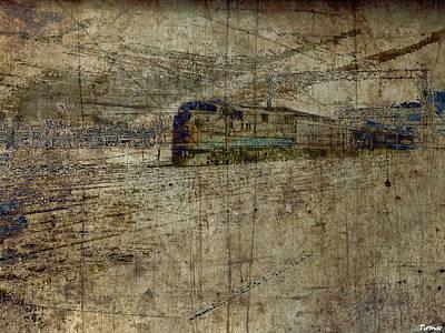 Train Mixed Media - Aa Train by Francis Erevan