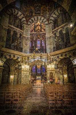 Photograph - Aachen, Germany -  Cathedral - The Octagon by Mark Forte