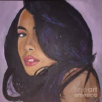 Aaliyah Painting - Aaliyah by Caitlin Cherner