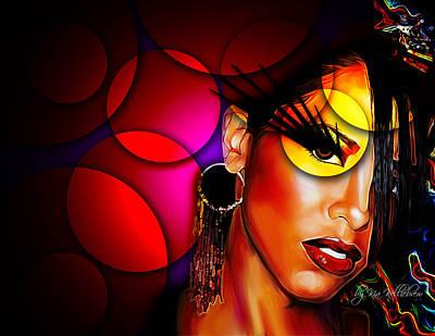 Aaliyah Digital Art - Aaliyah by Kia Kelliebrew