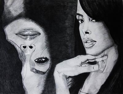 Rnb Drawing - Aaliyah by Saheed Fawehinmi