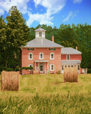 Photograph - Aanstad Farm House by Trey Foerster