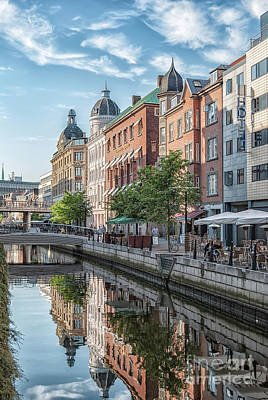 Photograph - Aarhus Afternoon Canal Scene by Antony McAulay