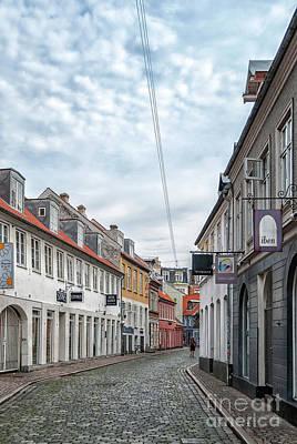 Aarhus Backstreet Scene Art Print by Antony McAulay