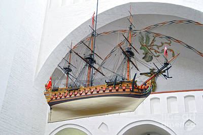 Photograph - Aarhus Cathedral Votive Ship by Catherine Sherman