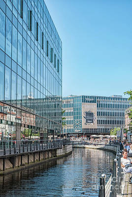 Photograph - Aarhus Lunchtime Canal Scene by Antony McAulay