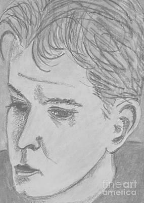 Drawing - Aaron 2 by Manuel Matas