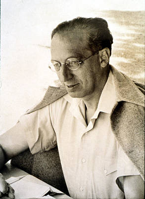 Aaron Copland, At Tangelwood, 1942 Art Print by Everett