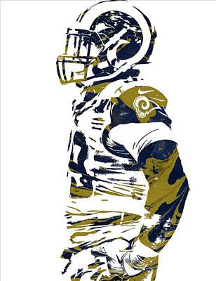 Football Mixed Media - Aaron Donald Los Angeles Rams Pixel Art 2 by Joe Hamilton