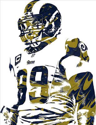 Mixed Media - Aaron Donald Los Angeles Rams Pixel Art by Joe Hamilton