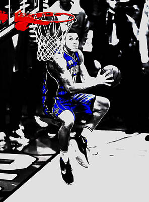 African-american Mixed Media - Aaron Gordon by Brian Reaves