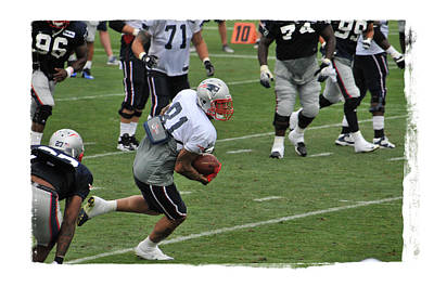 Gillette Stadium Photograph - Aaron Hernandez by Mike Martin