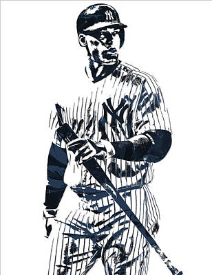 Mixed Media - Aaron Judge New York Yankees Pixel Art 12 by Joe Hamilton