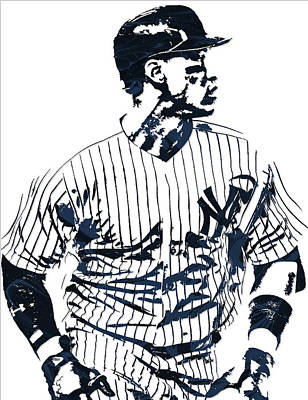 Aaron Judge New York Yankees Pixel Art 2 Art Print