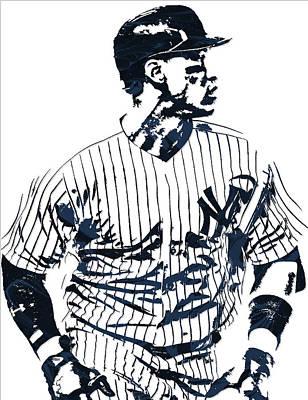 New York Yankees Mixed Media - Aaron Judge New York Yankees Pixel Art 2 by Joe Hamilton