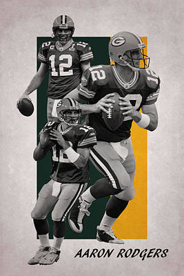 Photograph - Aaron Rodgers Green Bay Packers by Joe Hamilton