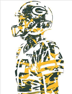 Aaron Rodgers Green Bay Packers Pixel Art 19 Art Print