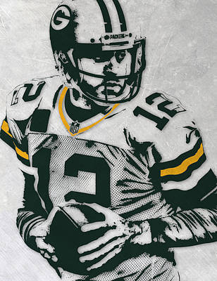 Aaron Rodgers Green Bay Packers Pixel Art 4 Art Print by Joe Hamilton