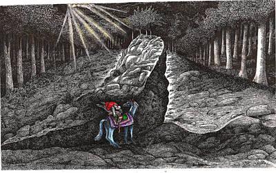 Aaron Saddles Asil Art Print by Al Goldfarb