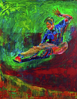 Painting - Aaron Snyder Champion Skater by Walter Fahmy
