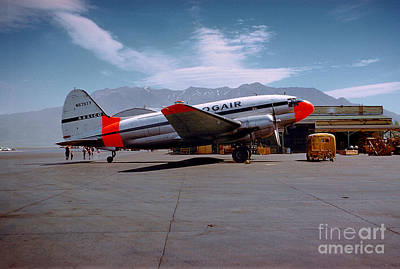 Aaxico Ch-28 Logair Curtiss C-46 Commando N67977,  Art Print by Wernher Krutein