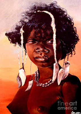 Painting - Aba Girl by Addonis Parker