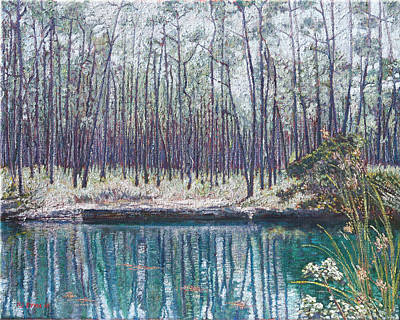 Painting - Abaco Blue Hole by Ritchie Eyma