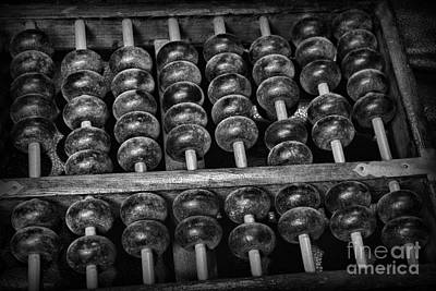 Cpas Photograph - Abacus In Black And White by Paul Ward