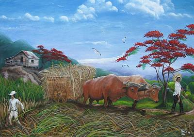 Campesino Painting - Aballarde  Y Melao by Toyo Perez