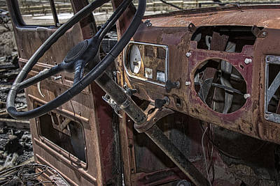 Photograph - Abandoned Rusty Pickup by Phil Cardamone