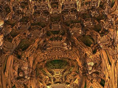 Mandelbulb Digital Art - Abandon All Hope Ye Who Enter Here by Lyle Hatch
