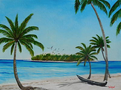 Painting - Abandon Boat In Paradise by Lloyd Dobson