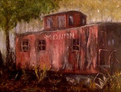 Painting - Abandon Caboose by Stephen King