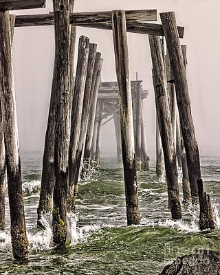 Abandon Pier Thru The Fog Art Print by Tom Gari Gallery-Three-Photography