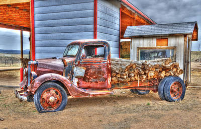 Photograph - Abandon Truck On Route 66 by Jim Vallee