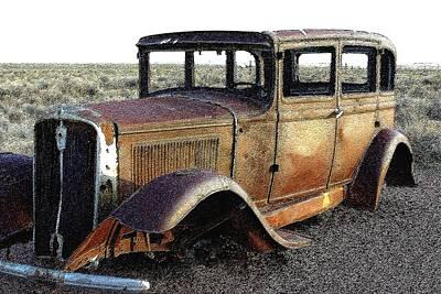 Abandonded Along Rt 66 Art Print