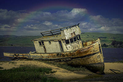 Point Reyes Photograph - Abandonded Old Boat by Garry Gay