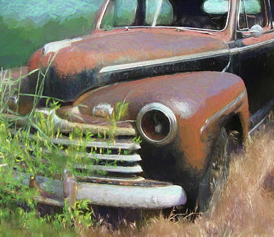 Digital Art - Abandoned 1948 Ford by David King