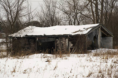 Abandoned And Cold Art Print by Elaine Mikkelstrup