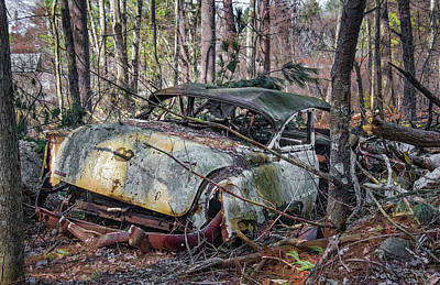 Photograph - Abandoned Antique Chevy Car by Betty Denise